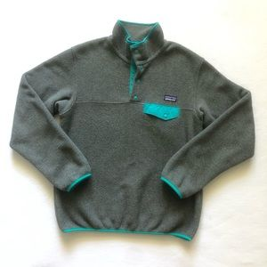 Patagonia Synchilla Snap T Fleece Pullover Gray S